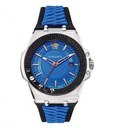 Versace Black-Blue Chain Reaction Watch