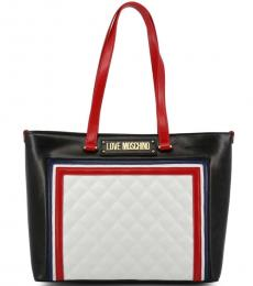 Love Moschino Black Coloblock Large Tote