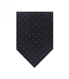 Navy White Dots Tie