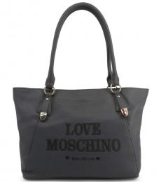 Love Moschino Grey Made With Love Large Tote