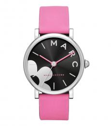 Pink Classic Black Dial Watch