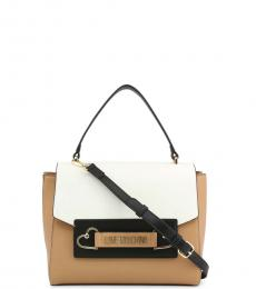 Love Moschino Brown Colorblock Small Satchel