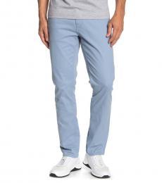 Michael Kors Light Blue Parker Slim Twill Pants
