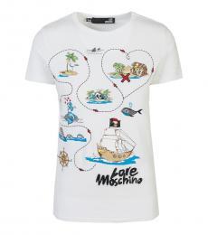 White Find Maze Logo T-Shirt