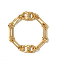 Tory Burch Brass Gemini Link Chain Bracelet