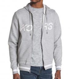 Michael Kors Grey Slant Logo Hoodie Jacket