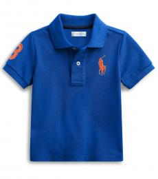 Ralph Lauren Baby Boys Rugby Royal Pique Polo