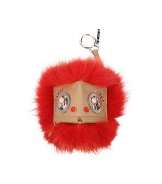 Fendi Rust Eye Print Key Ring