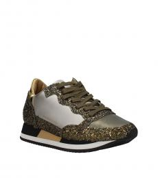 Green Glitter Classic Sneakers