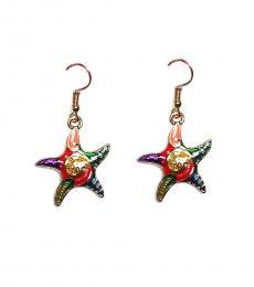 Multi color Stylish Starfish Earrings