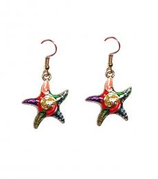 Betsey Johnson Multi color Stylish Starfish Earrings