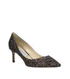 Jimmy Choo Brown Romy Glitter Heels