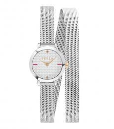 Furla Silver Vittoria Stylish Watch