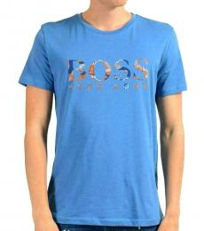 Hugo Boss Blue Graphic Crewneck T-Shirt