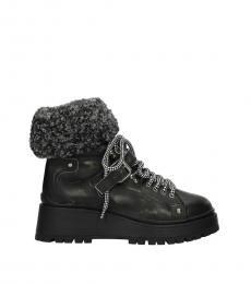 Black Vintage Leather Boots