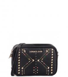 Versace Jeans Black Studs Small Crossbody