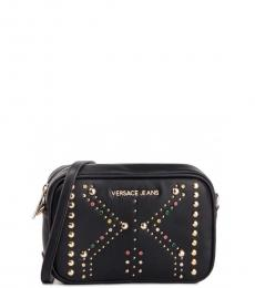 Versace Jeans Black Studs Small Crossbody
