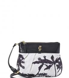 Juicy Couture Black & White Aloha Medium Crossbody
