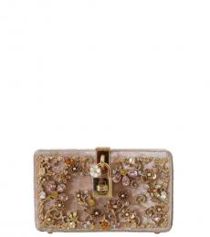 Dolce & Gabbana Pink Baroque Crystal Clutch