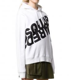 Dsquared2 White Twin Logo Sweatshirt