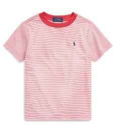 Ralph Lauren Little Boys Sunrise Red Striped T-Shirt