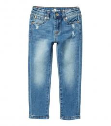 7 For All Mankind Little Girls Barrier Reef Skinny Stretch Jeans