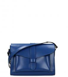 Royal Blue Solid Medium Messenger Bag