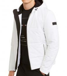 Michael Kors White Tech Travel Jacket