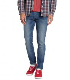 Diesel Blue Tepphar Stretch Slim Jeans