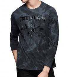True Religion Dark Grey Crew Buddha T-Shirt
