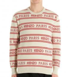 Kenzo Off White All Over Logo Sweater