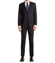 Emporio Armani Navy Blue Notch Wool Suit