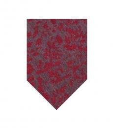 Calvin Klein Charcoal Red Molten Botanic Classic Tie
