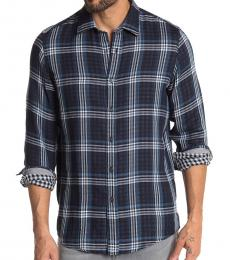 Michael Kors Midnight Jordi Plaid Classic Fit Shirt