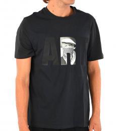 Neil Barrett Navy Blue Round Neck T-Shirt