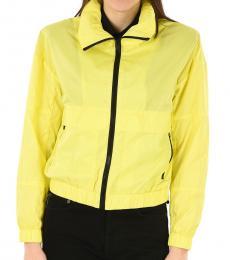 Kenzo Yellow Windbreaker Hoodie Jacket