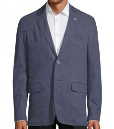 Canali Blue Slim-Fit Jersey Sportcoat