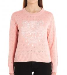 Kenzo Pink Logo Embroidered Sweater