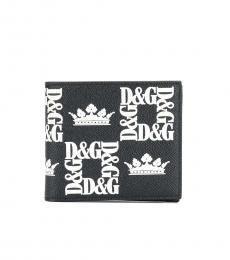 Dolce & Gabbana Black Logo Print Wallet