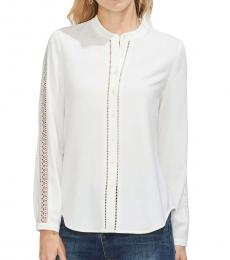 Vince Camuto White French Crepe Shirt
