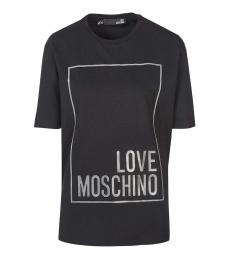 Love Moschino Black Classic Logo T-Shirt