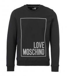 Love Moschino Black Front Logo Sweatshirt