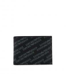Emporio Armani Black All Over Logo Wallet