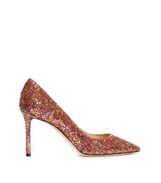 Jimmy Choo Pink Romy Glitter Heels
