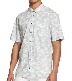 Light Grey Camouflage Short Sleeves Shirt