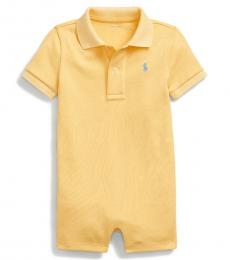 Ralph Lauren Baby Boys Empire Yellow Interlock Polo Shortall