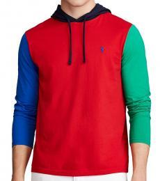 Ralph Lauren Red Jersey Hooded T-Shirt