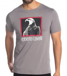 Grey Graphic Crew Neck T-Shirt