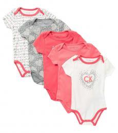Calvin Klein 5 Piece Bodysuits Set (Baby Girls)