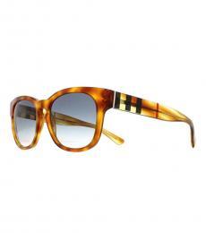 Burberry Light Havana-Blue Gradient Sunglasses